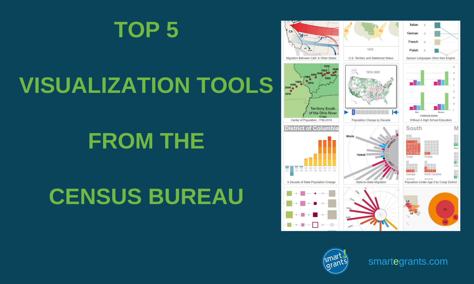 visualize this top 5 visualization tools from the census bureau smartegrants
